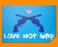 Love Not War Poster
