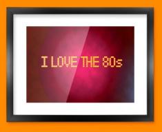 Love the 80s Framed Print