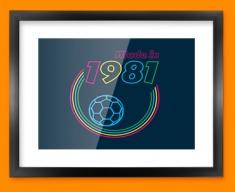 Made in 1981 Framed Print