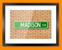 Madison Ave US Street Sign Framed Print