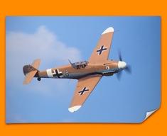 Me 109 Messerschmitt Plane Poster