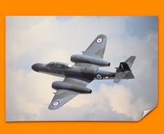 Meteor Gloster Plane Poster