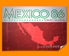 Mexico 86 Flag Poster