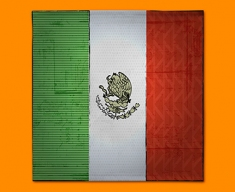 Mexico Flag Napkins (Set of 4)
