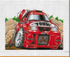 Mitsubishi Rally Canvas Art Print