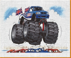 Monster Truck Canvas Art Print