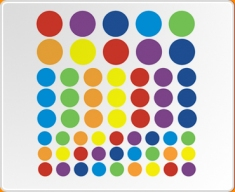 Multicoloured Spots Wall Sticker