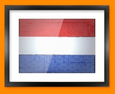Netherlands Flag Framed Print