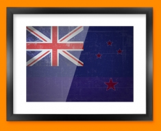 New Zealand Flag Framed Print