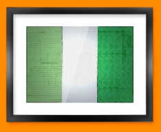 Nigeria Flag Framed Print