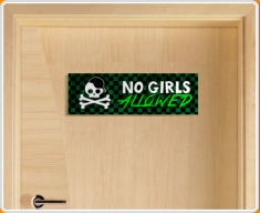 No Girls Allowed Children's Bedroom Door Sign