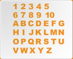 Numbers and Letters 1 (Standard Set) Wall Sticker
