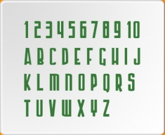 Numbers and Letters 2 (Armour Piercing Set) Wall Sticker