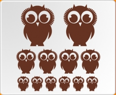 Owls Set Wall Sticker