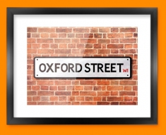 Oxford Street UK Street Sign Framed Print