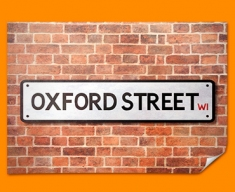 Oxford Street UK Street Sign Poster