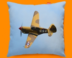 P 40 Warhawk Curtiss Plane Sofa Cushion