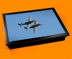 P 51 Mustang x2 North American Aviation Plane Cushion Lap Tray