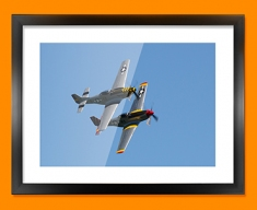 P 51 Mustang x2 North American Aviation Plane Framed Print