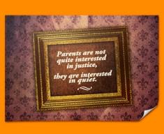 Parental Justice Heart Warmer Poster