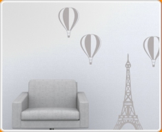 Paris Balloon Set Wall Sticker