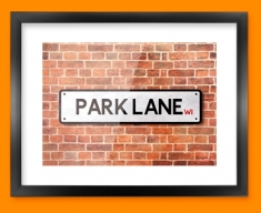 Park Lane UK Street Sign Framed Print