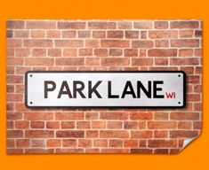Park Lane UK Street Sign Poster