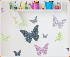 Patterned Butterflies Set Wall Sticker