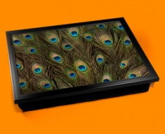Peacock Feathers Cushion Lap Tray