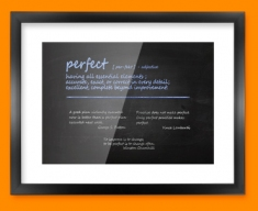 Perfect Definition Framed Print