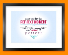 Perfect Typography Framed Print