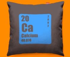 Periodic Table Calcium Funky Sofa Cushion 45x45cm