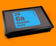 Periodic Table of Elements Calcium Cushion Lap Tray