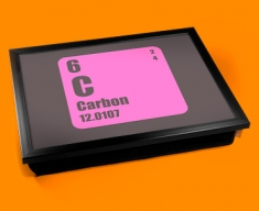 Periodic Table of Elements Carbon Cushion Lap Tray