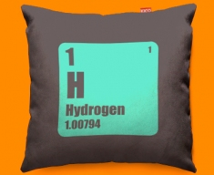 Periodic Table Hydrogen Funky Sofa Cushion 45x45cm