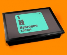 Periodic Table of Elements Hydrogen Cushion Lap Tray