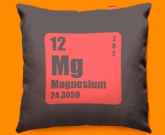 Periodic Table Magnesium Funky Sofa Cushion 45x45cm