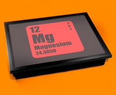 Periodic Table of Elements Magnesium Cushion Lap Tray
