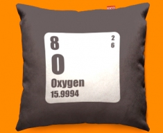 Periodic Table Oxygen Funky Sofa Cushion 45x45cm