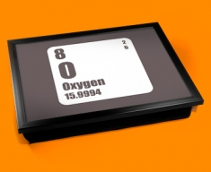 Periodic Table of Elements Oxygen Cushion Lap Tray