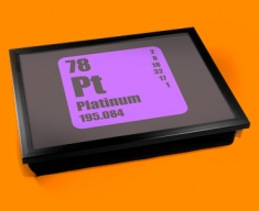 Periodic Table of Elements Platinum Cushion Lap Tray