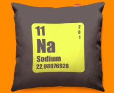 Periodic Table Sodium Funky Sofa Cushion 45x45cm