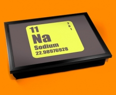 Periodic Table of Elements Sodium Cushion Lap Tray