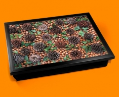 Pine Cones Cushion Lap Tray
