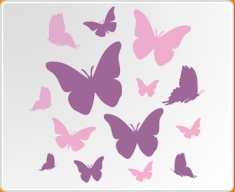 Pink & Violet Butterflies Set Wall Sticker