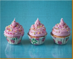 Pink Cup Cakes Canvas Art Print