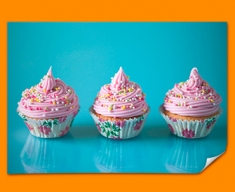 Pink Cupcakes Poster