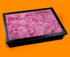 Pink Flowers Cushion Lap Tray