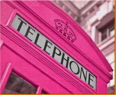 Pink Phone Box Canvas Art Print
