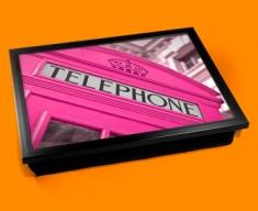 Pink Phone Box Cushion Lap Tray